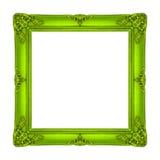 Обрамите картину золота картинной рамки деревянную высекаенную изолированную на whi Стоковые Фотографии RF