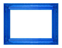 Обрамите картину картинной рамки деревянную высекаенную изолированную на белом ба Стоковое Изображение RF