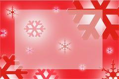 обрамите красную снежинку Стоковое Изображение RF