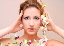 обрамите орхидею s Стоковые Фото
