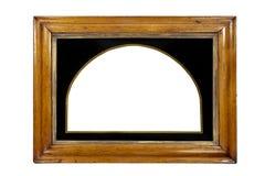 Обрамите прямоугольную смертную казнь через повешение стены или отразите некоторый w изолированный золочением Стоковое Фото
