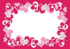 обрамите розовый вектор Стоковые Изображения RF