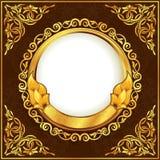 обрамите сбор винограда золота иллюстрация вектора
