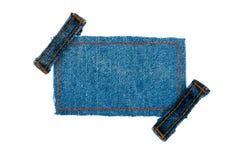 Обрамите с 2 джинсами ремней Стоковое Фото