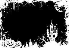 обрамите grunge halloween Стоковое Изображение