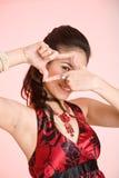 обрамленная усмешка руки Стоковое Изображение RF