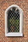 обрамленное каменное окно Стоковое Фото