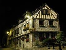 обрамленный тимберс дома Франции традиционный стоковое фото