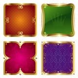 обрамляет золотистое богато украшенный Стоковое Фото