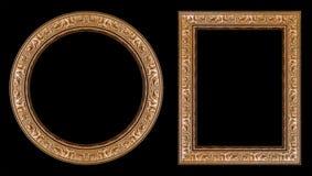 обрамляет изображение золота Стоковое фото RF