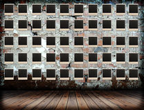 обрамляет grunge над стеной фото стоковые изображения