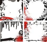 обрамляет grunge иллюстрация штока