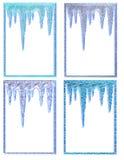 обрамляет icicle иллюстрация штока