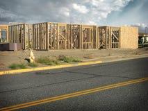 обрамлять конструкции здания стоковые фото