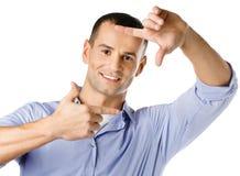 Обрамляя жест рук человека Стоковое Фото