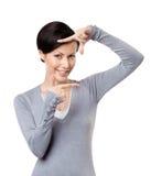 Обрамляя жест рук Стоковая Фотография RF