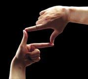 обрамляя руки Стоковое Изображение RF