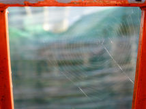 Обрамленная сеть паука Стоковые Изображения RF