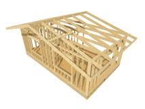 Обрамлять нового дома жилищного строительства деревянный Стоковое Фото