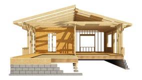 Обрамлять нового дома жилищного строительства деревянный Стоковое фото RF