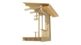 Обрамлять нового дома жилищного строительства деревянный Стоковые Фото
