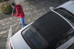 Обратимое мытье давления автомобиля стоковые изображения rf