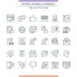 Обратные связи и комплект значка оценок Стоковое Изображение