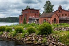 добросердечная станция реки силы Музей Werla (Verla) Финляндия стоковое изображение