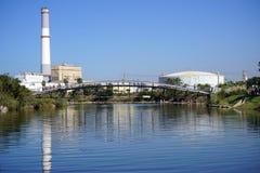 добросердечная станция реки силы Стоковые Фотографии RF