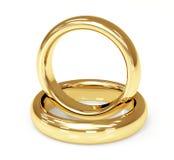 Обручальное кольцо золота 2 3d Стоковое фото RF