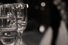 Обручальные кольца в стекле шампанского Стоковые Изображения RF