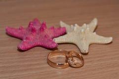 Обручальные кольца золота звезды Стоковые Изображения