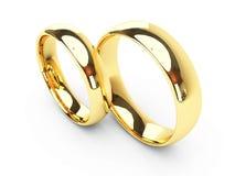 Обручальные кольца золота стоковые изображения rf