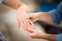 Обручальные кольца, обручальное кольцо диаманта Стоковые Фото