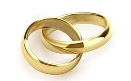 Обручальные кольца установленные металла золота на белой предпосылке изолировали иллюстрацию вектора иллюстрация вектора
