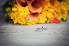 Обручальные кольца Стоковые Фото