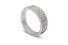 Обручальное кольцо белого золота Стоковое Фото