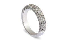 Обручальное кольцо белого золота Стоковые Фото