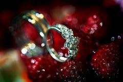 Обручальное кольцо диаманта Стоковые Фото