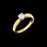 Обручальное кольцо с диамантом стоковое изображение