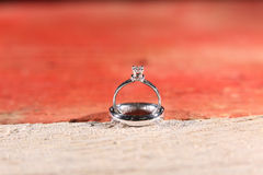 Обручальное кольцо увиденное сверху Стоковая Фотография