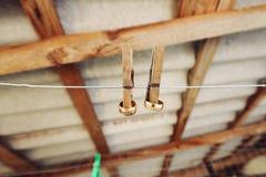 Обручальные кольца и штыри Стоковое фото RF