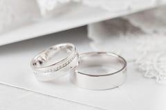 Обручальные кольца крупного плана Стоковые Фото