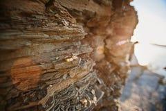 Обручальные кольца на камне Стоковая Фотография