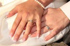 Обручальные кольца Стоковое Изображение