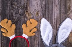 Обручи масленицы лося и зайца для головы Стоковое Изображение