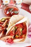 обручи tortilla салата из курицы Стоковые Изображения