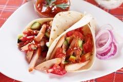 обручи tortilla салата из курицы Стоковая Фотография RF