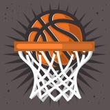 Обруч баскетбола и векторная графика дизайна шарика бесплатная иллюстрация