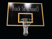 Обруч баскетбола на классн классном с текстом назад к школе Стоковые Фотографии RF